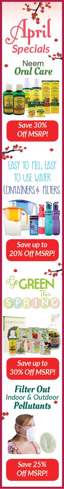 April NEEDS Monthly Specials Sale