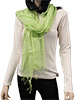 Green Scarf with Shells