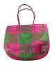 Recycled Wire Bag Pink & Green